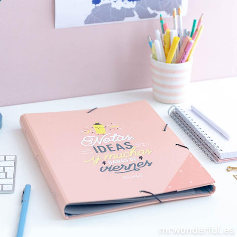 Carpeta separadora - Notas, ideas y muchas ganas de viernes Mr. Wonderful I MR.WONDERFUL