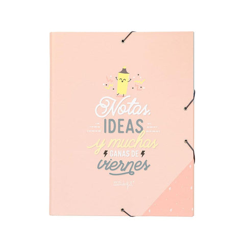 Carpeta separadora - Notas, ideas y muchas ganas de viernes Mr. Wonderful - MR.WONDERFUL-depto-51.myshopify.com