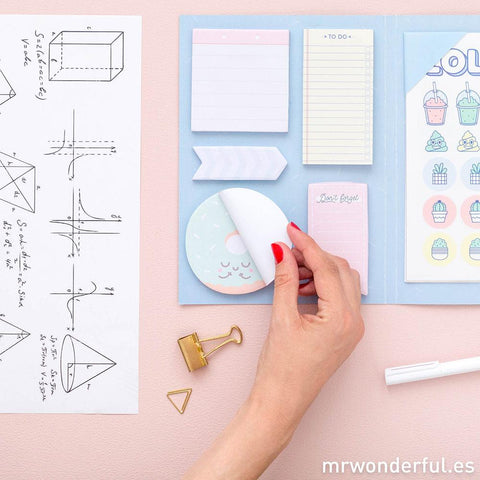 Libreta de stickers y notas adhesivas superchulas I MR.WONDERFUL