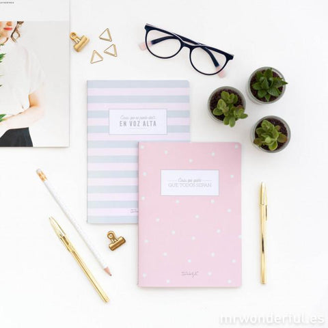 Set de 2 libretas para mentes inquietas Mr. Wonderful I MR.WONDERFUL