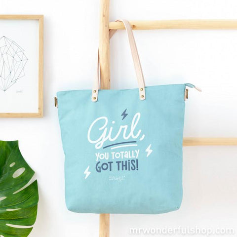 Tote bag - Girl, you totally got this! Bolsos Totebag MR.WONDERFUL