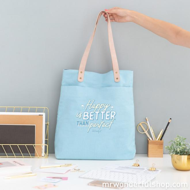 Tote bag - Happy is better than perfect MR.WONDERFUL- Depto51