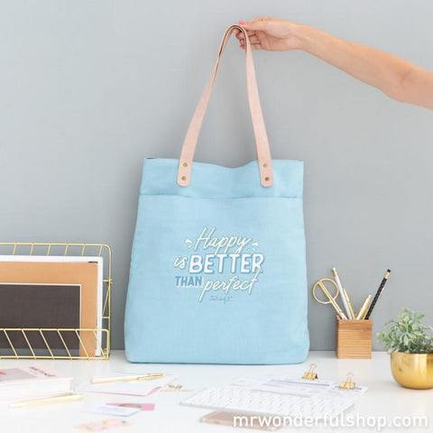 Tote bag - Happy is better than perfect Bolsos Totebag MR.WONDERFUL