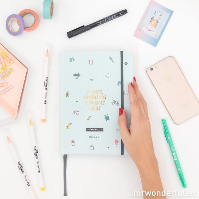 Agenda Bullet Atemporal - Planes, garabatos y muchas ideas Mr. Wonderful