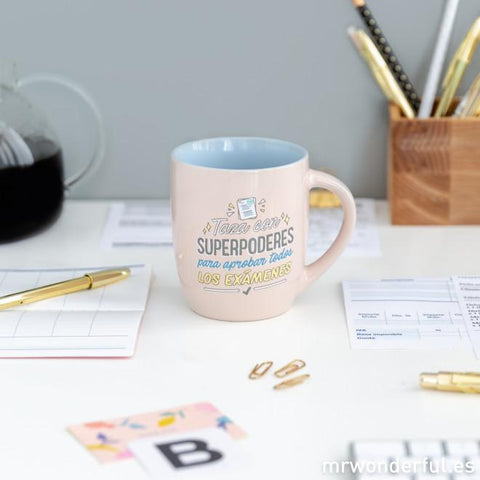 Taza - Superpoderes para aprobar todos los exámenes Mr. Wonderful I MR.WONDERFUL