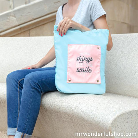 Tote bag plegable - Do small things with an xl smile