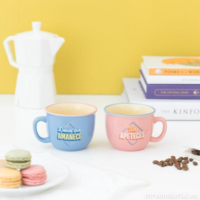 Set 2 tazas - Desde que amanece me apeteces MR.WONDERFUL- Depto51