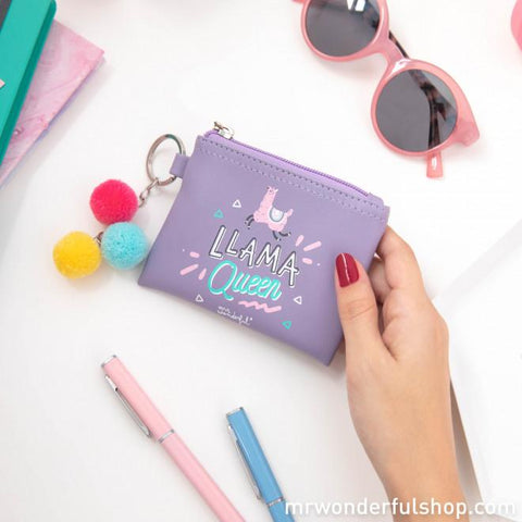 Monedero porta llaves - Llama Queen BILLETERAS MR.WONDERFUL