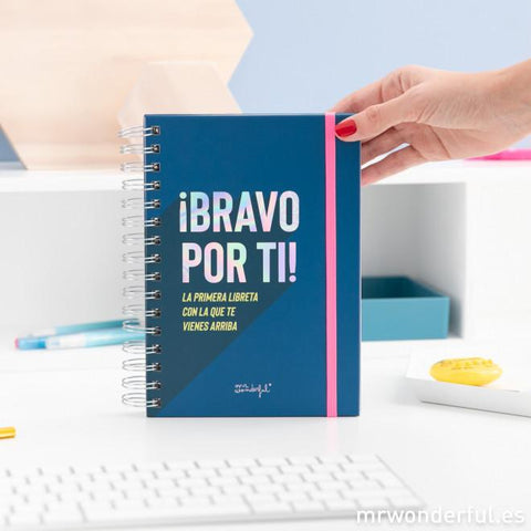 Libreta con mensajes positivos - The Powerful Collection - MR.WONDERFUL