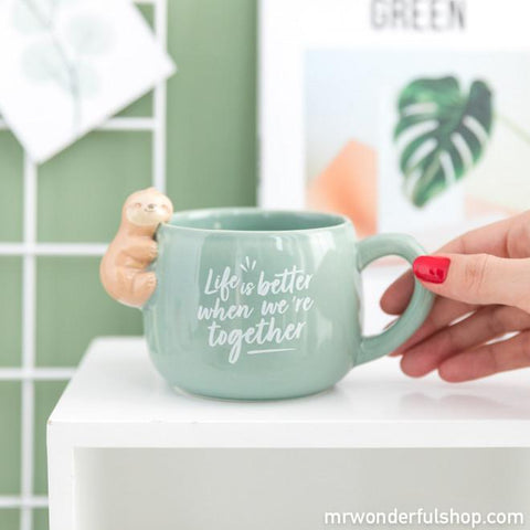 Taza perezoso Slow Collection - Life is better when we're together TAZAS Y TAZONES MR.WONDERFUL