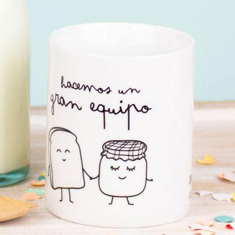 "Taza ""Hacemos un gran equipo"" Mr. Wonderful MR.WONDERFUL- Depto51"