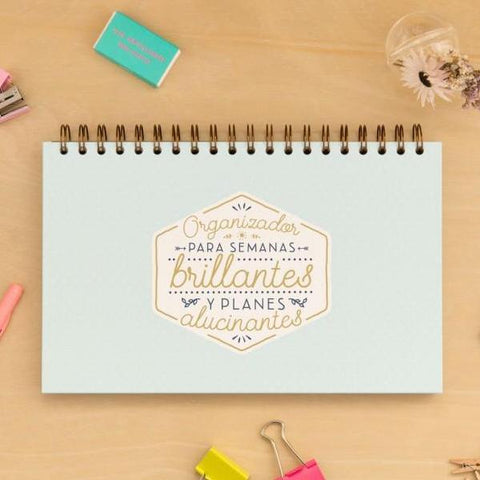 Organizador para semanas brillantes y planes alucinantes Mr. Wonderful I MR.WONDERFUL