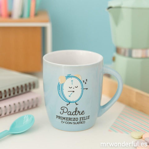 "Taza ""Padre primerizo feliz y con sueño"" Mr. Wonderful MR.WONDERFUL- Depto51"