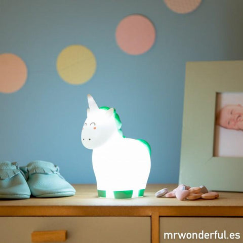 Luz mágica para soñar bonito - Unicornio Mr. Wonderful