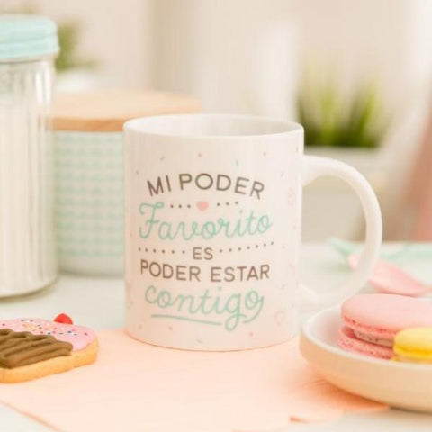 "Taza ""Mi poder favorito es poder estar contigo"" Mr. Wonderful MR.WONDERFUL- Depto51"