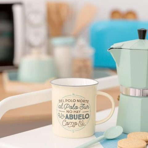 "Taza ""Del Polo Norte al Polo Sur no hay un abuelo como tú"" Mr. Wonderful MR.WONDERFUL- Depto51"