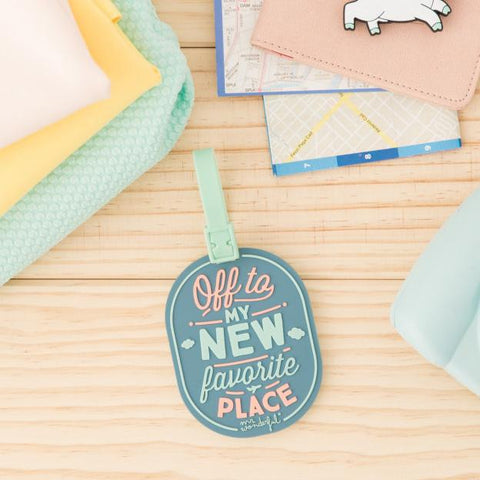 Etiqueta para Equipaje - Off to my new favorite place Mr. Wonderful - MR.WONDERFUL