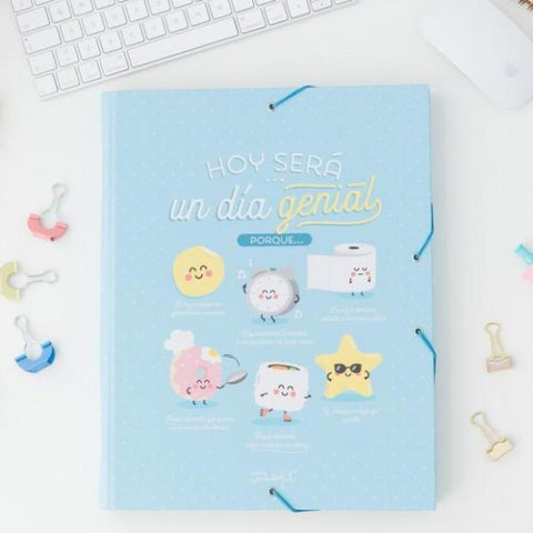 Carpeta separadora - Hoy será un día genial porque… Mr. Wonderful - MR.WONDERFUL