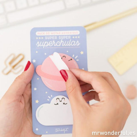 Notas adhesivas superchulas Mr. Wonderful I MR.WONDERFUL