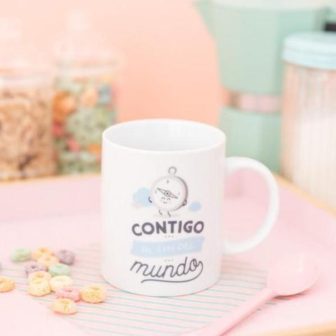 "Taza ""Contigo al fin del mundo"" Mr. Wonderful"