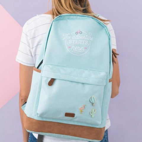 Mochila mint - The adventure starts here Mr. Wonderful I MR.WONDERFUL