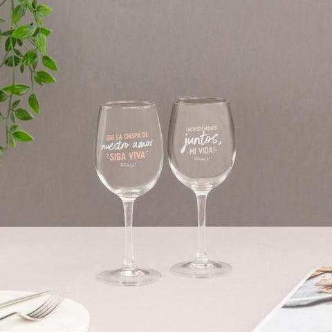 Set de 2 copas de vino para brindar (y lo que surja) Mr. Wonderful I MR.WONDERFUL
