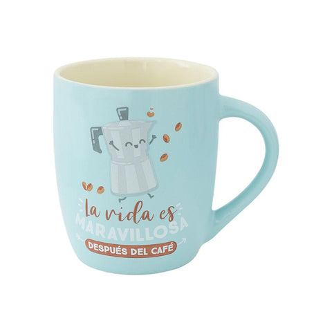 Taza - La vida es maravillosa después del café Mr. Wonderful MR.WONDERFUL- Depto51