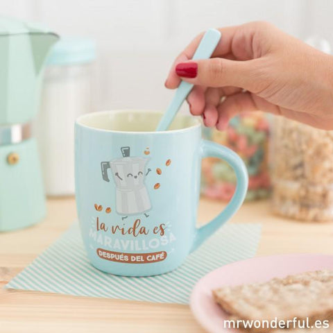 Taza - La vida es maravillosa después del café Mr. Wonderful I MR.WONDERFUL