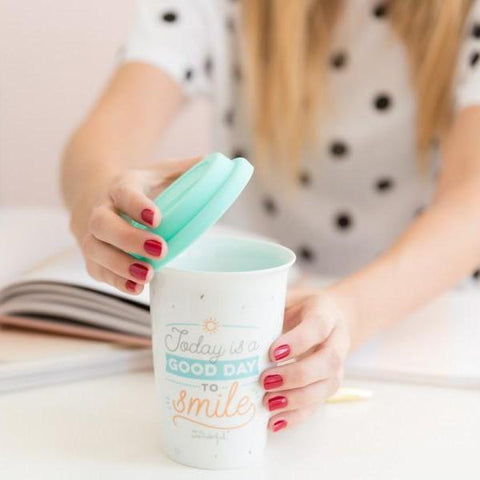 Travel cup - Today is a good day to smile Mr. Wonderful TAZAS Y TAZONES MR.WONDERFUL
