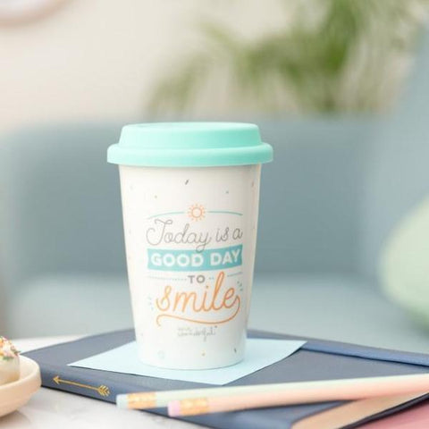 Travel cup - Today is a good day to smile Mr. Wonderful - MR.WONDERFUL