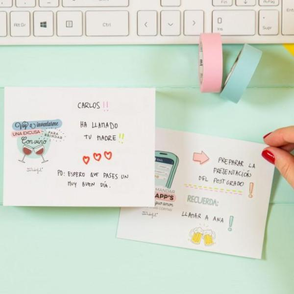 Block de notas con wonderpropósitos Mr. Wonderful