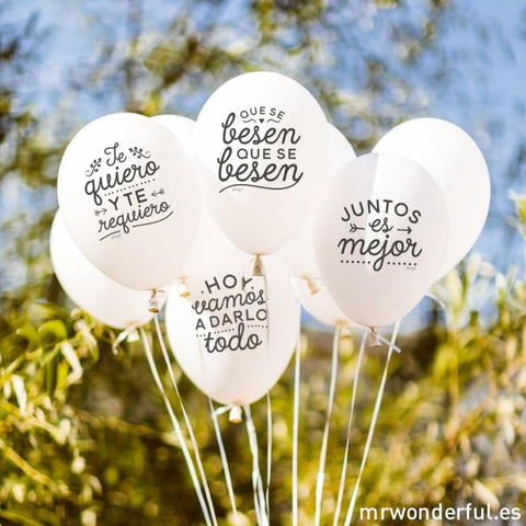 Globos para matrimonios geniales - MR.WONDERFUL