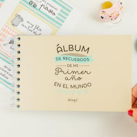Álbum para bebé - ¡Hola mundo! Mi primer añito Mr. Wonderful I MR.WONDERFUL