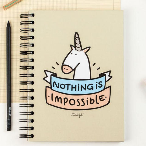 Libreta - Nothing is impossible Mr. Wonderful