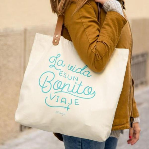Bolso - La vida es un bonito viaje Mr. Wonderful