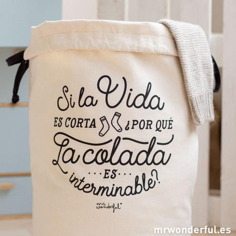 Canasta para la Ropa Sucia - Si la vida es corta ¿Por qué la coldada es interminable? Mr. Wonderful I MR.WONDERFUL