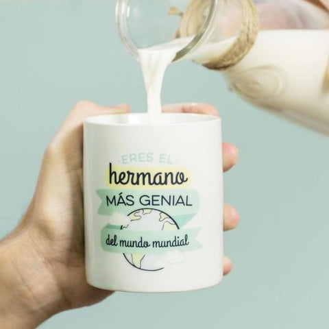 "Taza ""Eres el hermano más genial del mundo mundial"" Mr. Wonderful MR.WONDERFUL- Depto51"