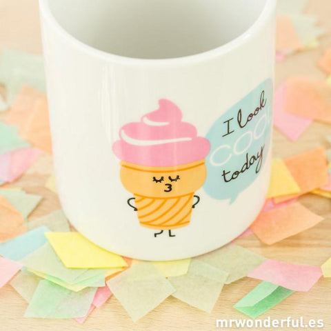 Taza - I look cool today TAZAS Y TAZONES MR.WONDERFUL