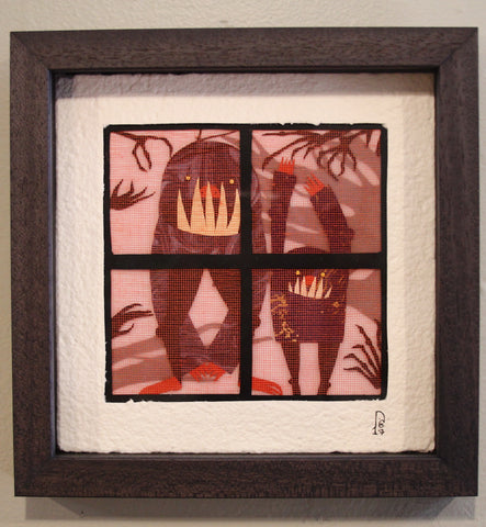 "Dawn M. Cardona - ""Teraphobia - Monsters at the Window"" - SOLD"