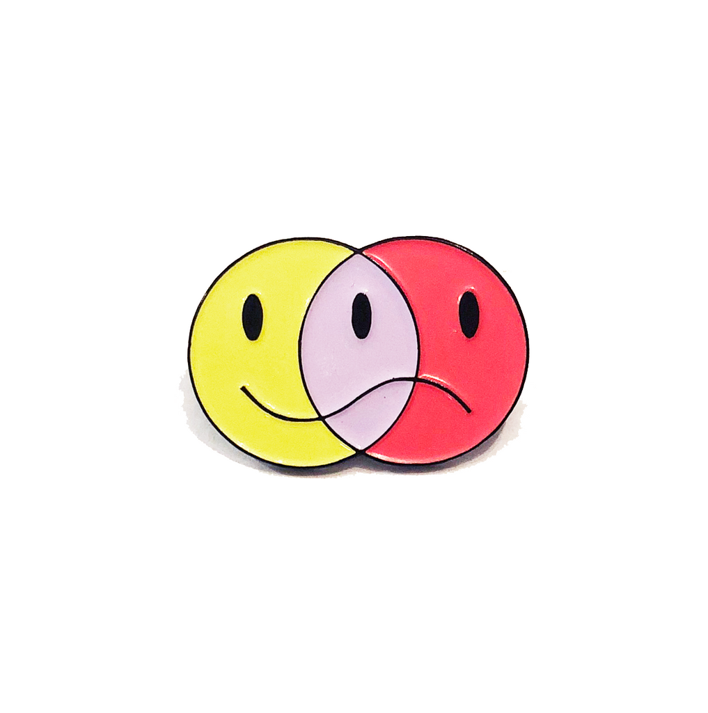 Smiley Frown Lapel Pin
