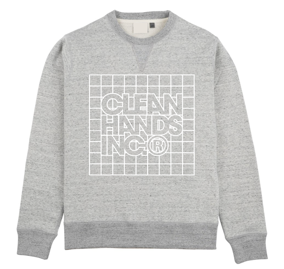Grid French Terry Crewneck