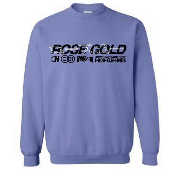 Rose Gold / CH - Hows My Painting Crewneck