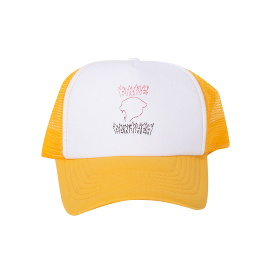 YELLOW RP© FLAMES LOGO TRUCKER