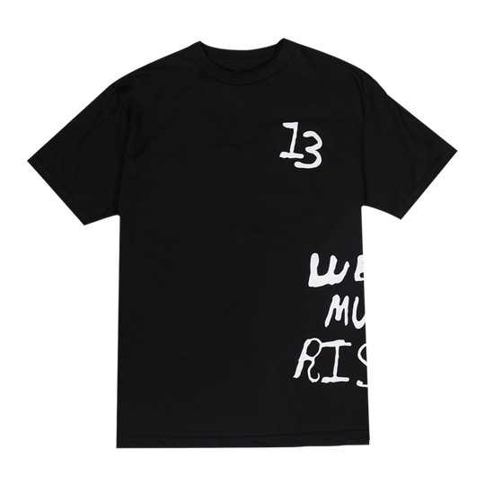 BLACK RP© WE MUST RISE TEE