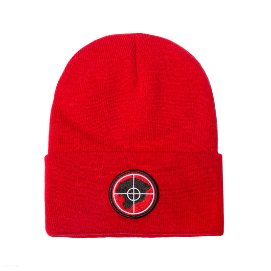RED RP© PUBLIC ENEMY PANTHER BEANIE