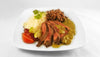 WEDNESDAY August 2: Flat Iron Steak, Seasoned Red Beans, White Rice and Salsa Verde