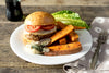 Tuesday: Tommy Burger with Spiced Sweet Potato Fries, & Sage Aioli