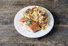 Tuesday: Salmon & Summer Veggies With Alfredo Sauce & Linguine