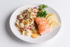 Friday: Lemon Drizzled Alaskan Coho Fillet over Couscous Pilaf with Sautéed Chioggia Beets