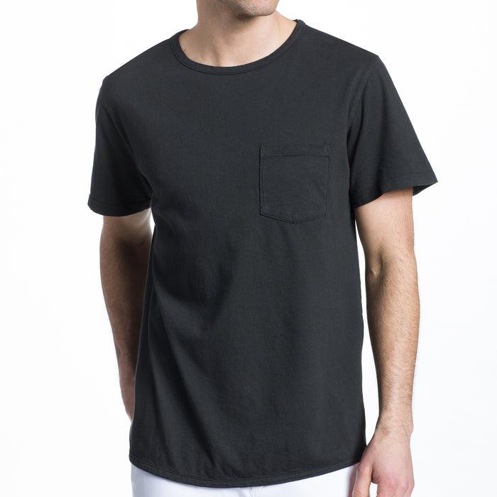 THE 100% MADE IN THE USA SS POCKET TEE - WASHED BLACK
